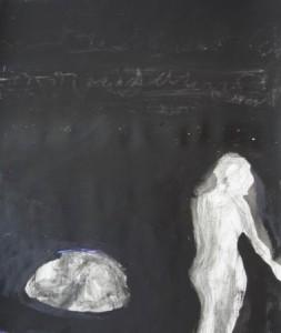 """""""Dunkelheit"""", Tusche, Acryl auf Papier, 42cmX49,5cm, 2008"""