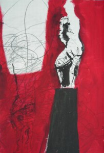 """Liberté"", Tusche, Acryl auf Papier, 34cmX49,5cm, 2008"