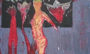 """""""Poesie"""", Mischtechnik auf Papier, 28cmX49,5cm, 2008 (Privatbesitz)"""