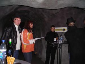 """Ausstellung """"blau Fern dunkel Nah"""", Luftschutztunnel Sonthofen, 2009, Vernissage"""