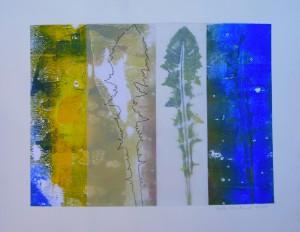 """""""Allgäu"""", Collage und Mischtechnik auf Papier, 2014, Privatbesitz"""
