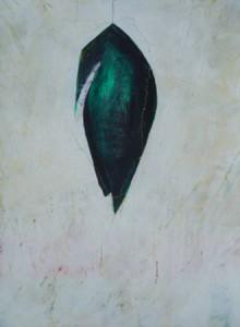 """Wandlungsspur II"", Mischtechnik auf Papier,30cmX40cm, 2003"